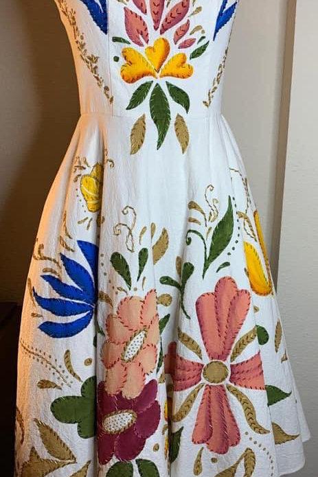 Vestido Cozumel blanco primavera