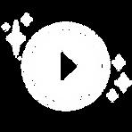 video icon play button white SPARKLES ve
