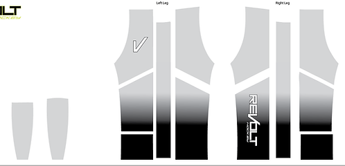 Gray to Black Fade Inline Pants