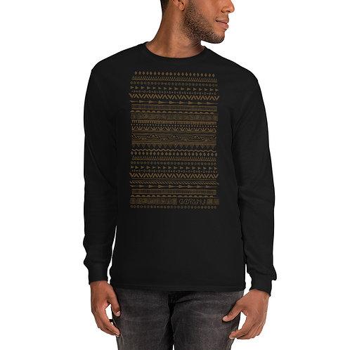 Men's Long Sleeve Shirt Goyanu Tribal Pattern