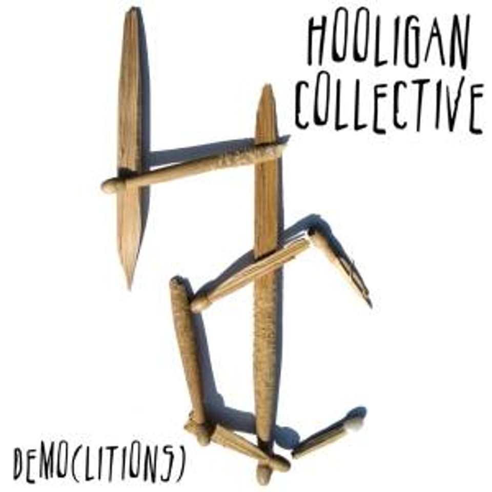 Hooligan Collective logo on the front cover of their demo album; Demolitions