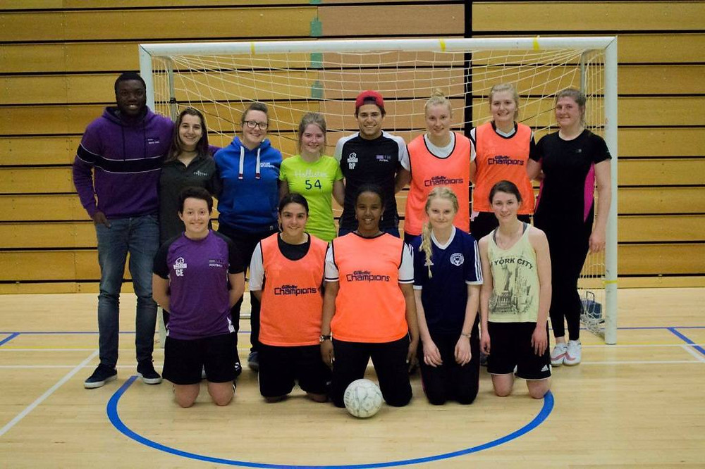futsal session girls football week by Stuart Rice