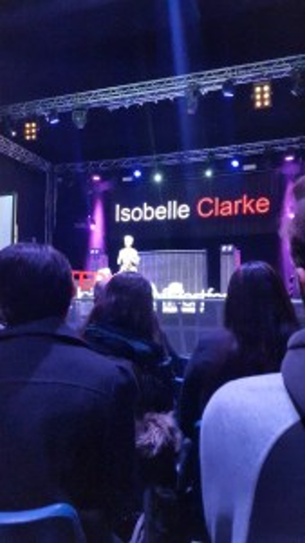Isobelle Clarke on stage - Shelby Loasby