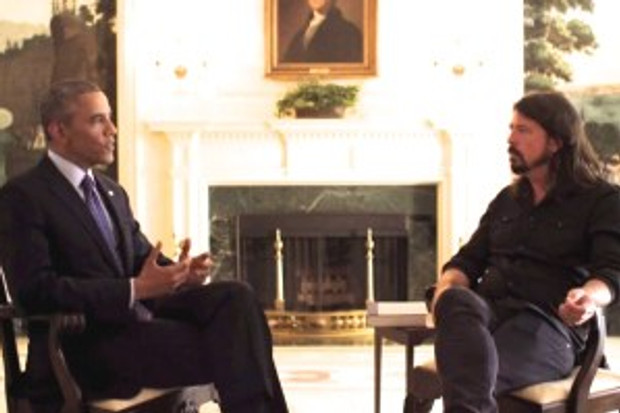 Obama and Grohl - HBO Series Screenshot