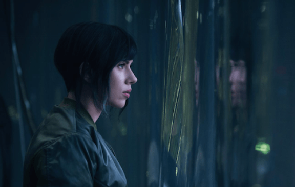 Caption: The first look of Scarlett Johansson in the remake of 'The Ghost in the Shell'.