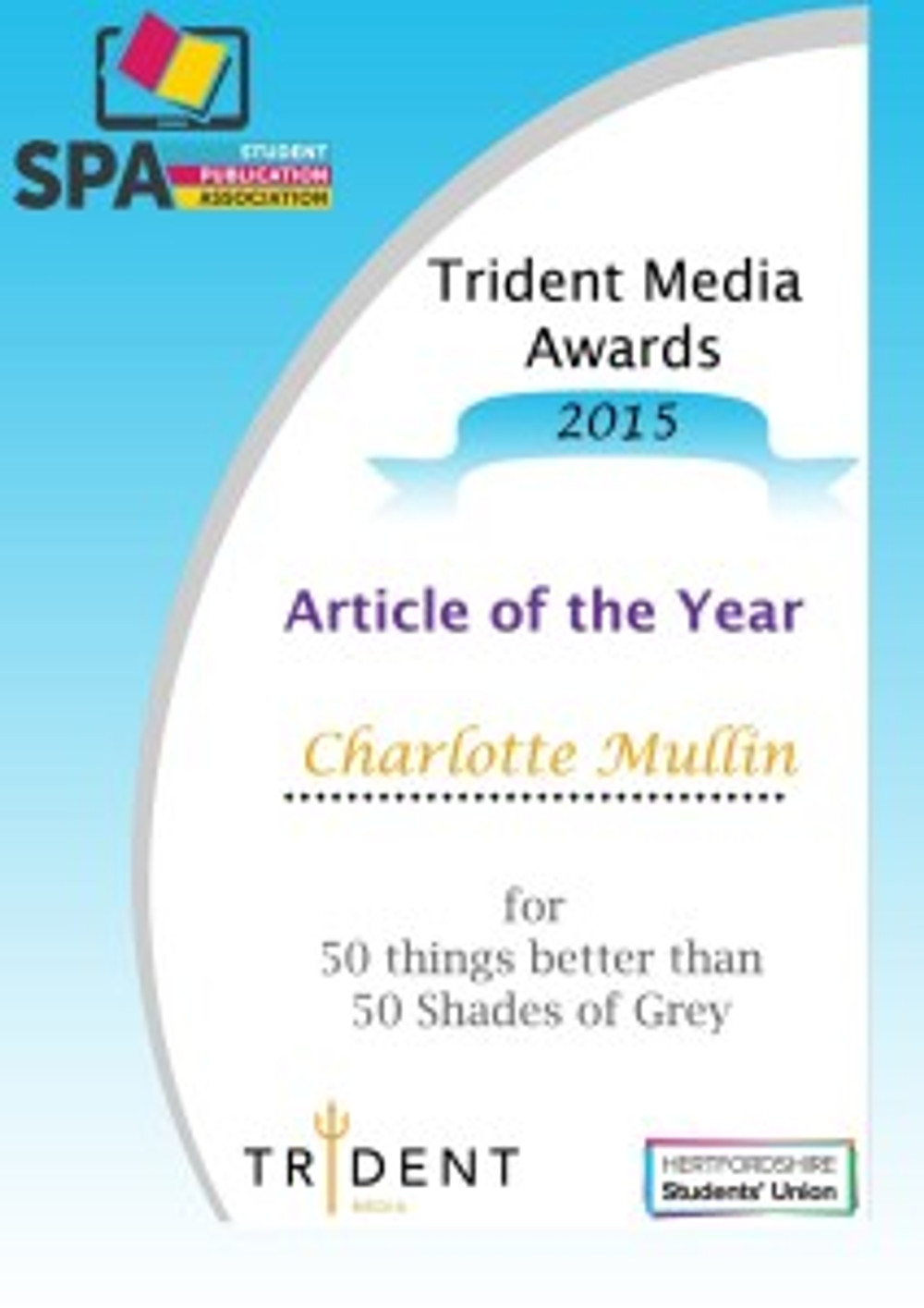 Article of the Year | 50 things better than 50 Shades of Grey