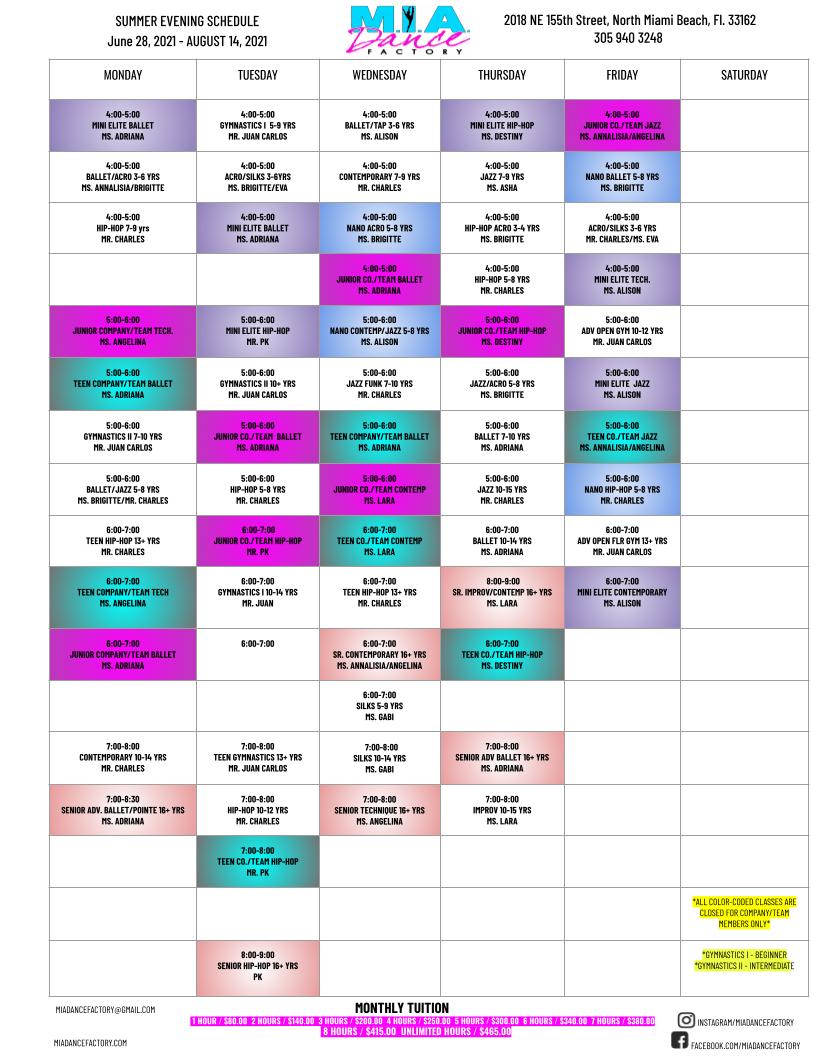 2021 SUMMER EVENING CLASSES SCHEDULE 7.22.2021  (1).png