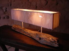 Lampe bois flotté