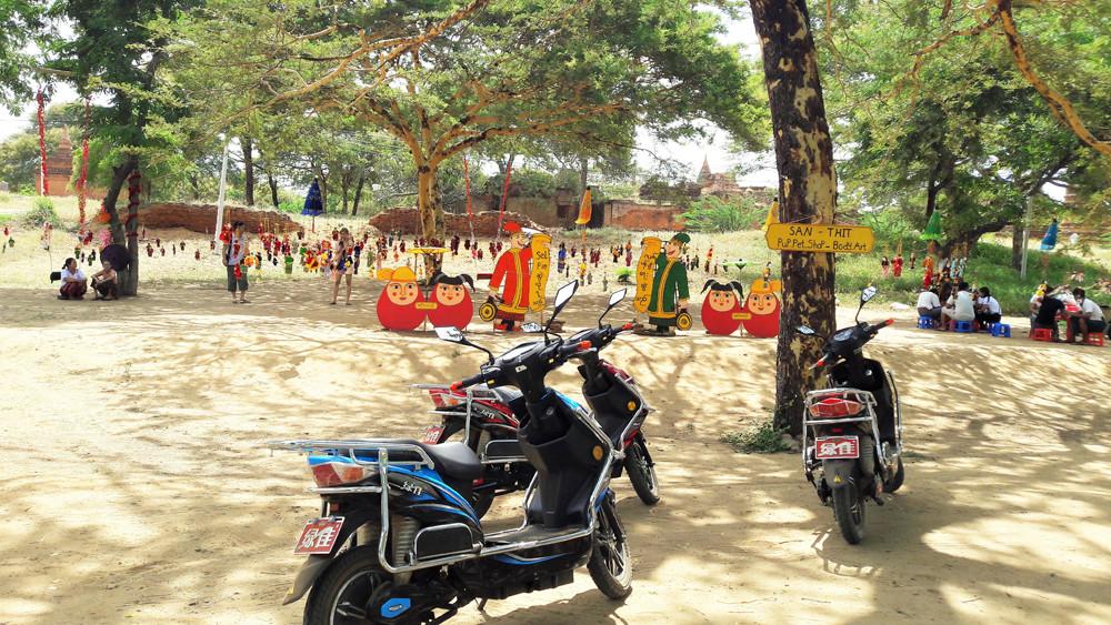 Xe máy điện là phương tiện di chuyển hợp lý nhất ở Bagan Myanmar