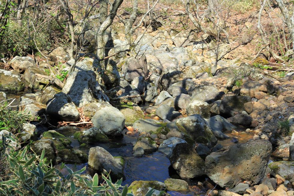 Một con suối nhỏ trên đường leonúi Hallasan - đảo Jeju