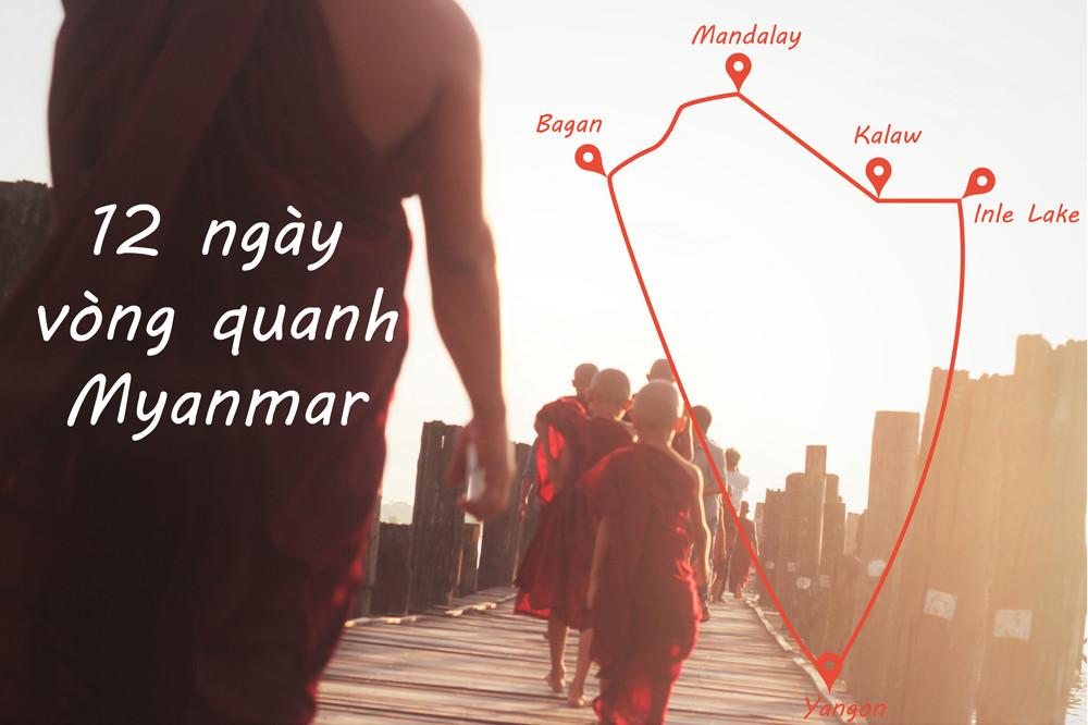 Lịch trình du lịch 12 ngày vòng quanh Myanmar