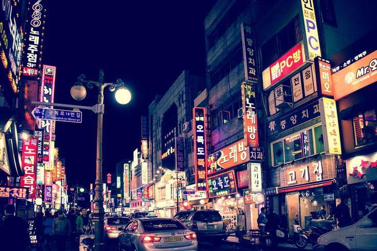 Buổi tối tại thành phố biển Busan - Hàn Quốc