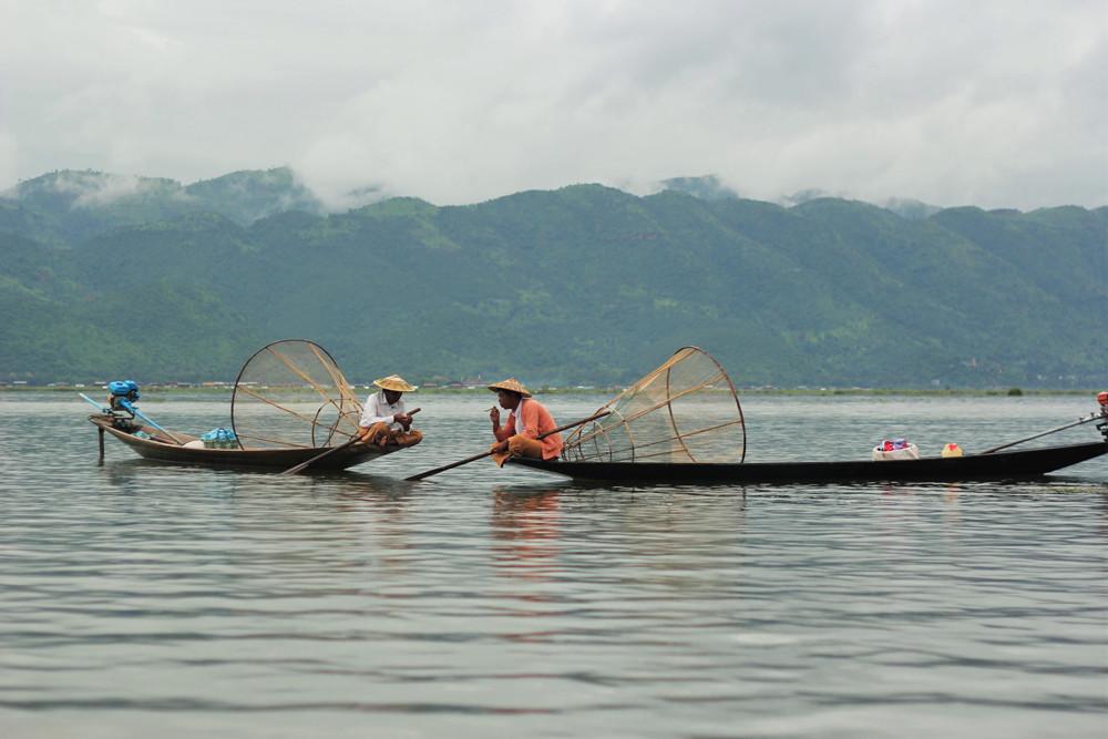 Phút nghỉ ngơitrên hồ Inle Myanmar