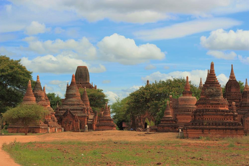 Các ngôi chùa gạch đỏ cổ kính ở  Bagan Myanmar