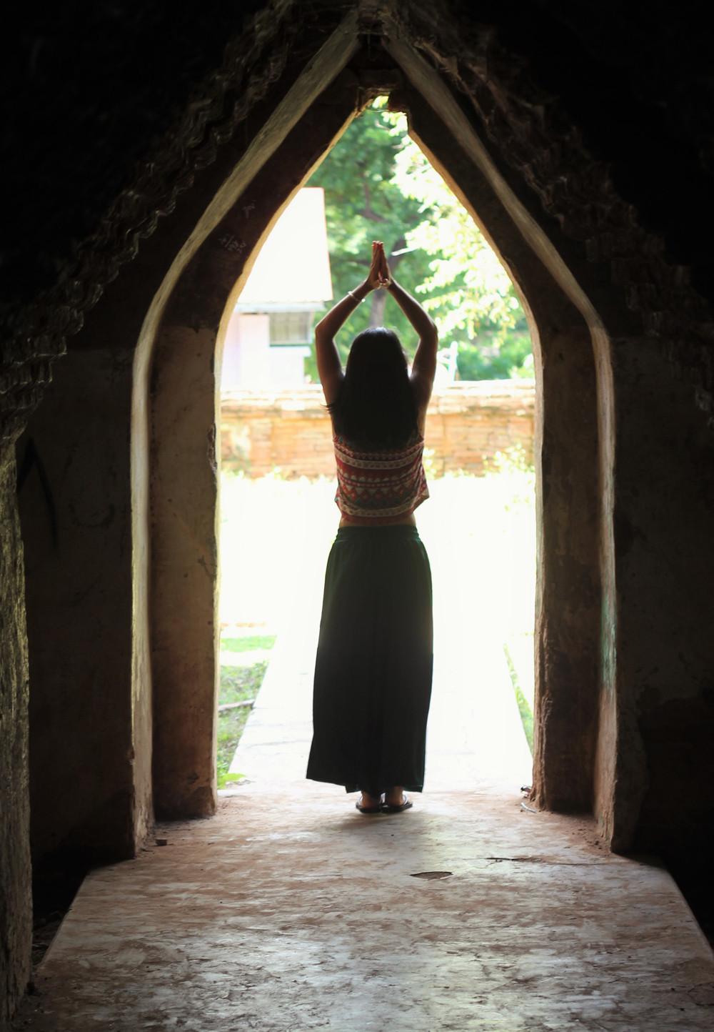 Namaste từ làng Inwa Mandalay Myanmar