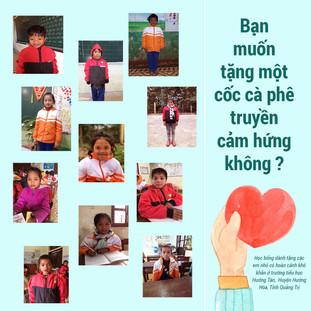 Gây quỹ học bổng truyền cảm hứng cho các em nhỏ ở Hướng Hoá, Quảng Trị