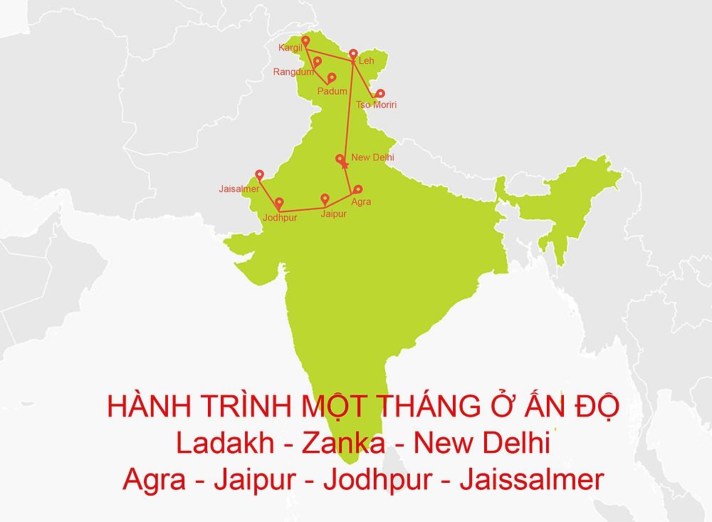 Lịch trình du lịch Ấn Độ