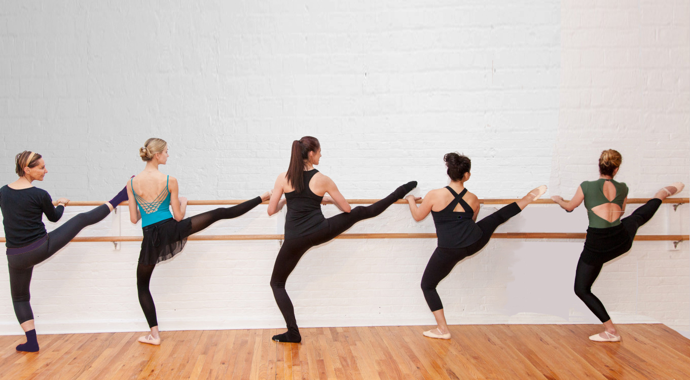 BBB Ballet Body Barre uses leg on the barre to assist correct alignment and increase range