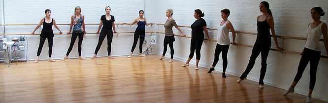 Tendu Side in BBB Ballet Body (TM) Barre Class works the demi pointe or ball of the foot