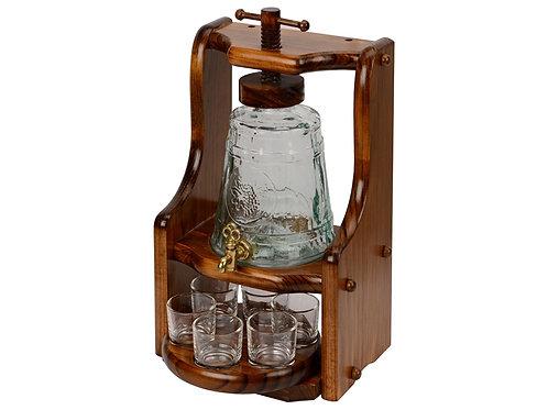 Набор «Царь-Колокол»: графин, шесть стаканов, деревянная подставка
