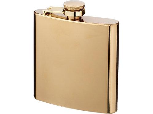 Золотистая плоская фляга Elixer объемом 175 мл, золотистый