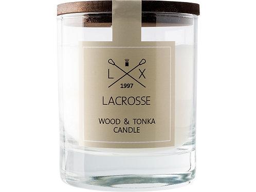 Свеча ароматическая в стекле «Дерево & Тонка»