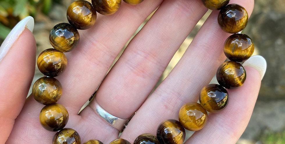 Tigers Eye Bracet - 10mm beads