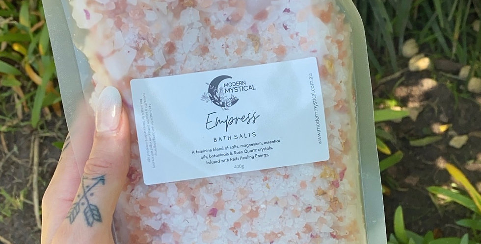 Reiki Infused Bath Salts - 400g resealable packet