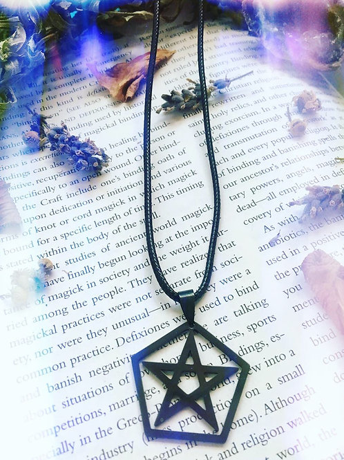 Pentagon Shaped Pentacle Necklace