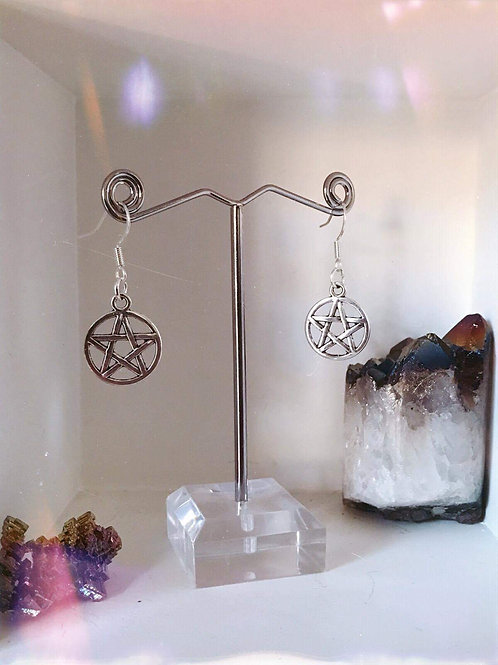 Small Pentacle Earrings