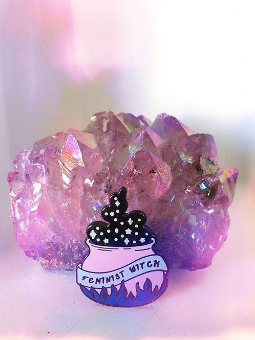 Feminist Witch Enamel Pin