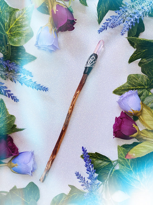 Rose Aura Quartz Wand