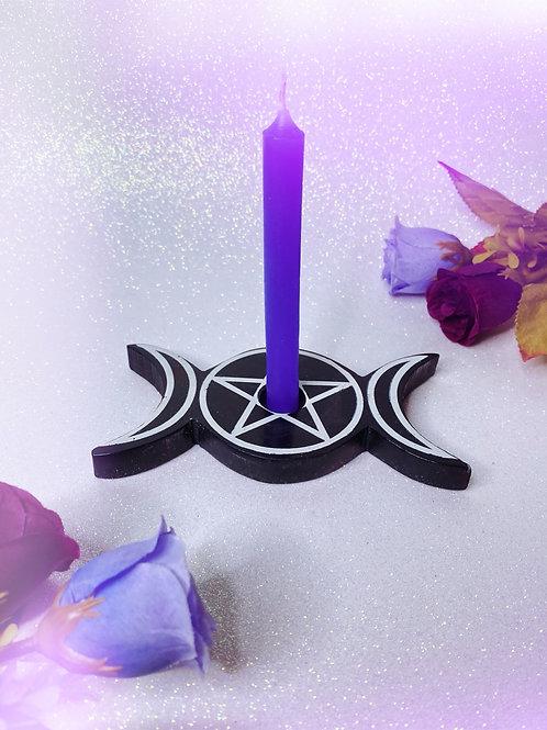 Triple Goddess Candle Holder