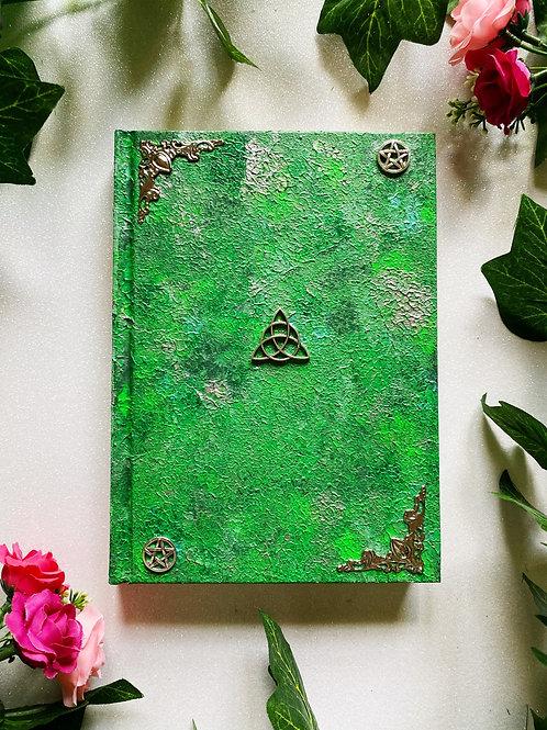 Triquetra Book of Shadows - Green