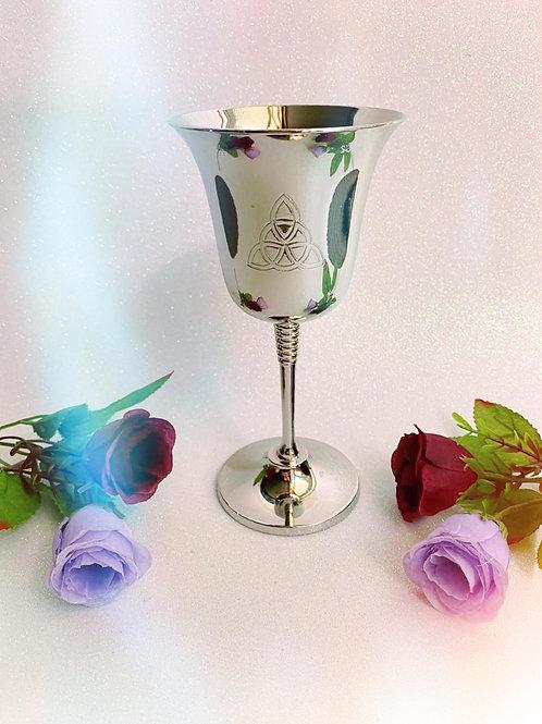 Silver Triquetra Chalice