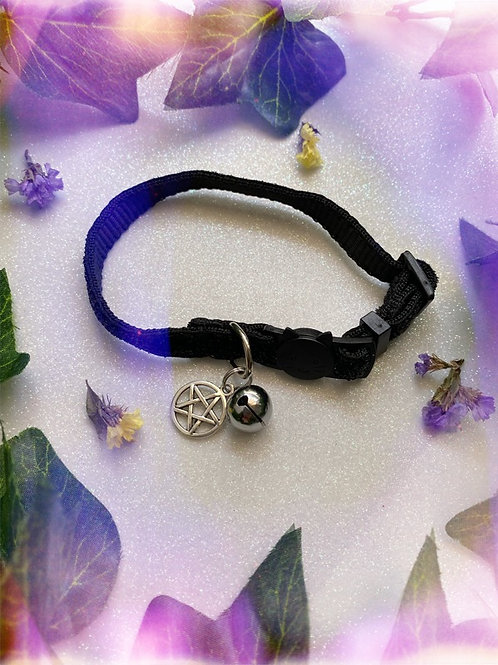 Pentacle Witches Familiar Collar-Black