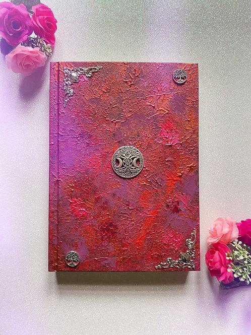 Witch Goddess Book of Shadows - Burgundy