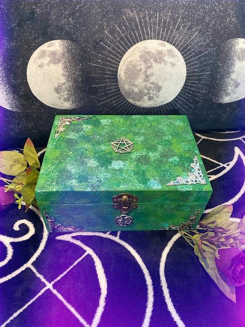 Green Pentacle Altar Box