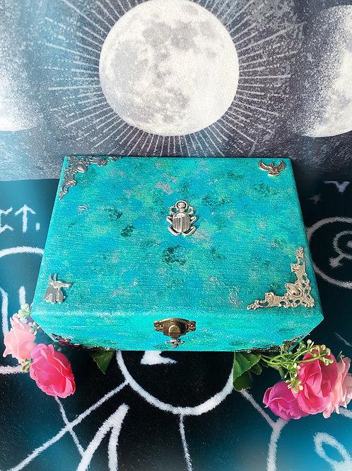 Aqua Egyptian Witch Altar Box