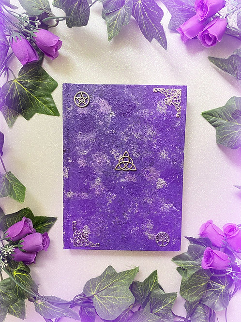 Triquetra Book of Shadows - Purple