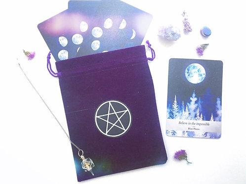 Purple Pentacle Tarot Bag