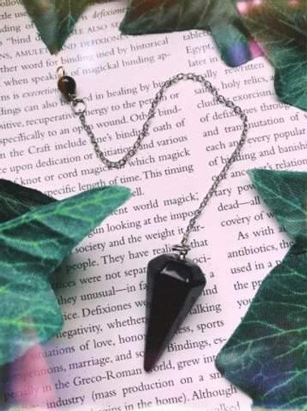 Black Onyx Crystal Pendulum