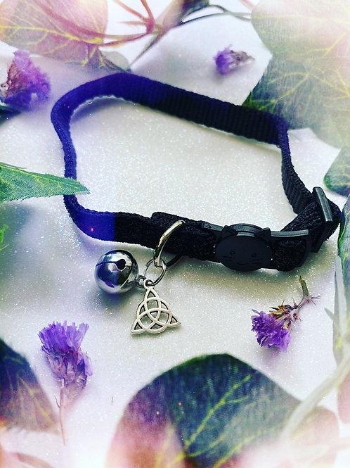 Triquetra Witches Familiar Collar- Black