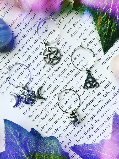 Witchy Wine Charms