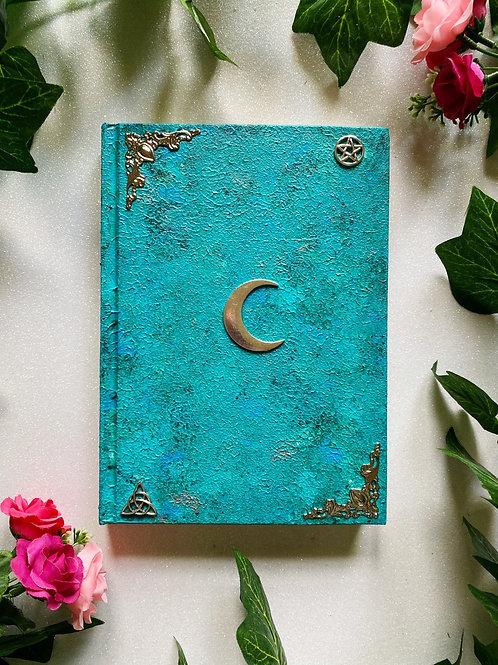 Lunar Witch Book of Shadows - Aqua
