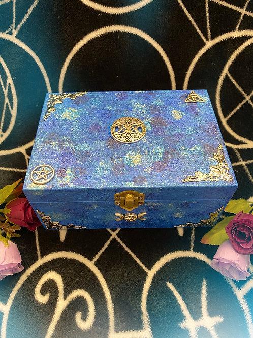 Blue Witch Goddess Altar Box