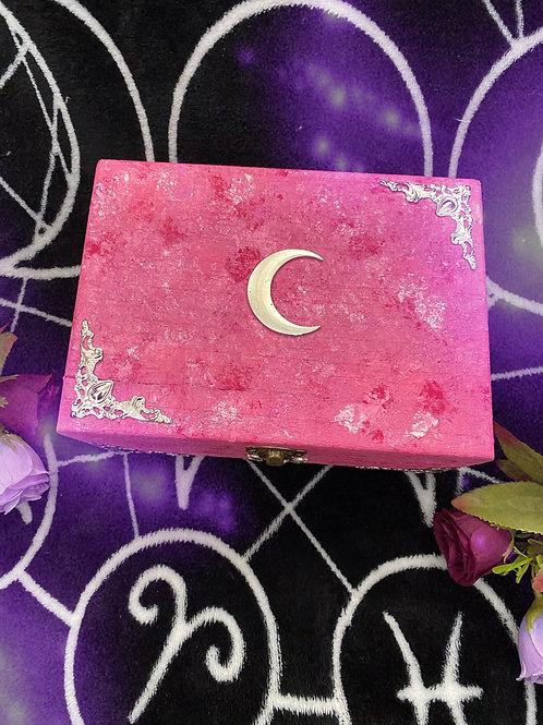 Pink Lunar Witch Altar Box