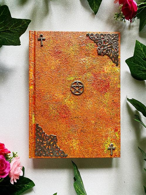 Pentacle Book of Shadows - Orange