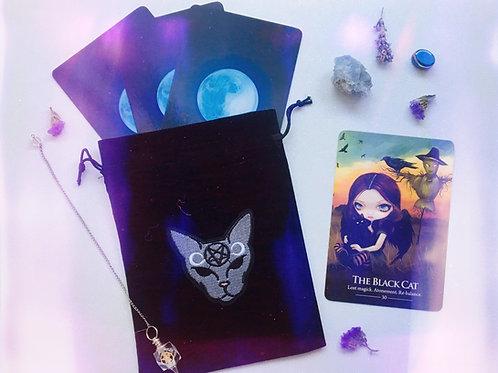 Black Devil Cat Tarot Bag