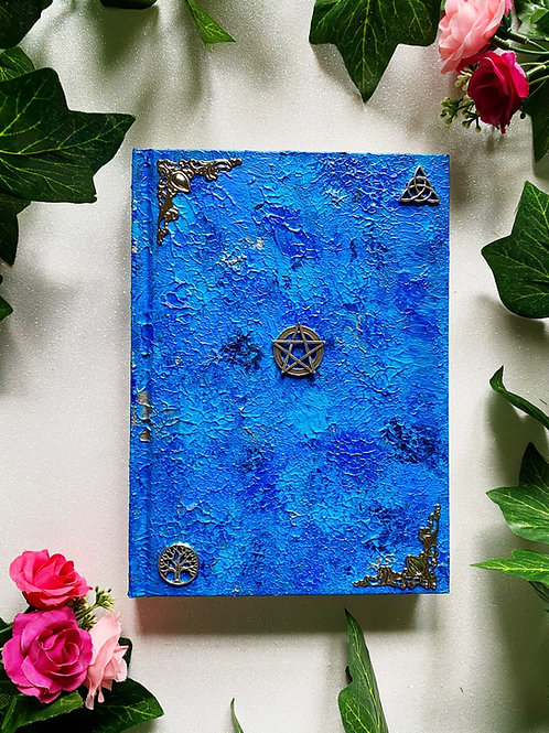 Celtic Pentacle Book of Shadows - Blue
